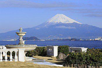 淡島ホテルから富士山